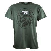 TB Baits Tričko Vintage Green Lady - XL