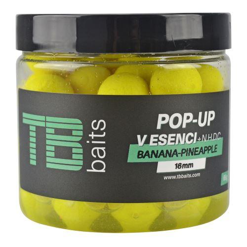 TB Baits Plávajúce Boilie Pop-Up Yellow Banana Pineapple + NHDC 65 g