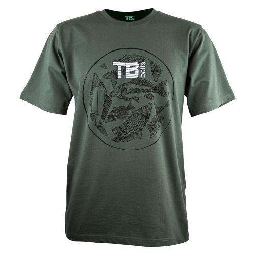 TB Baits Tričko Vintage Green