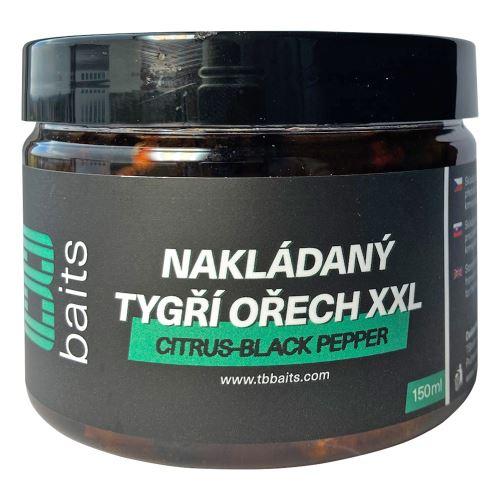 TB Baits Nakladaný Tigrí Orech XXL 150 ml - Citrus - Black pepper