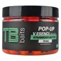 TB Baits Plávajúce Boilie Pop-Up Strawberry Butter + NHDC 65 g-12 mm