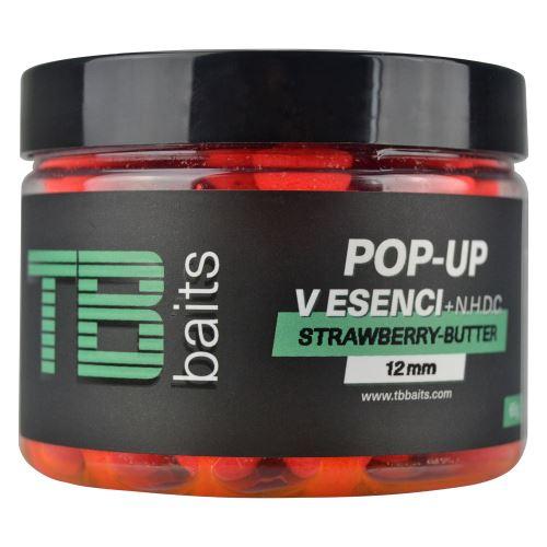 TB Baits Plávajúce Boilie Pop-Up Strawberry Butter + NHDC 65 g