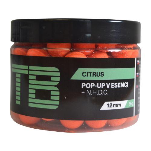 TB Baits Plávajúce Boilie Pop-Up Orange Citrus + NHDC 65 g