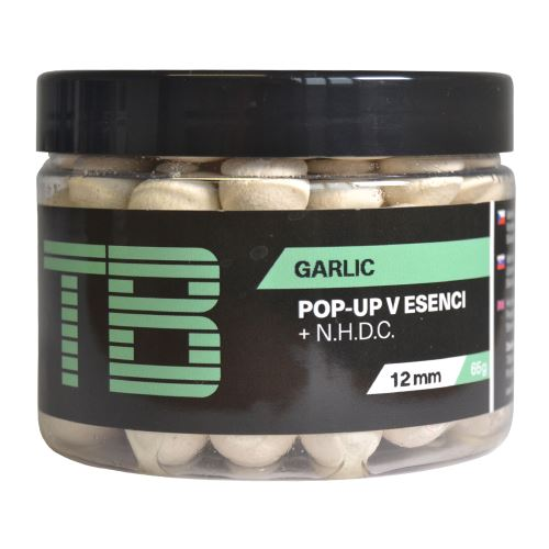 TB Baits Plávajúce Boilie Pop-Up White Garlic + NHDC 65 g