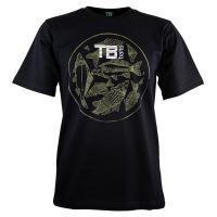 TB Baits Tričko Vintage Black - S