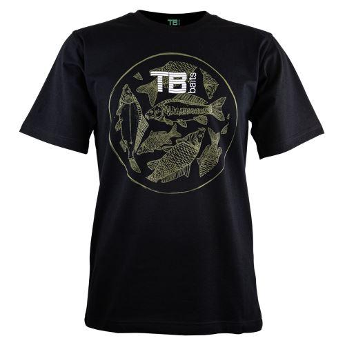 TB Baits Tričko Vintage Black