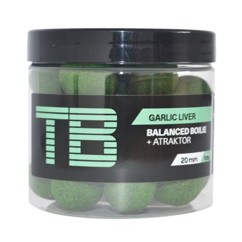 TB Baits Vyvážené Boilie Balanced + Atraktor Garlic Liver 100 g - 20 mm